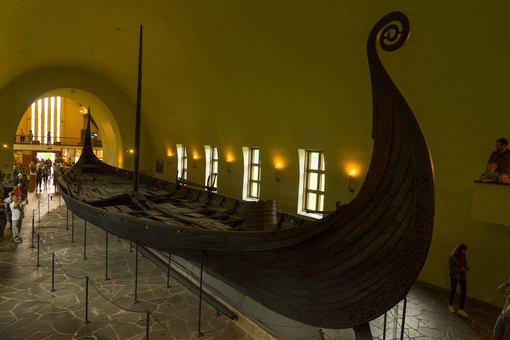 Interior of the Viking Ship Museum in Oslo