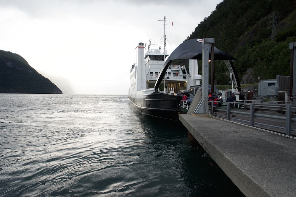 Boarding a car ferry to Geirangerfjord during Norway in one week itinerary