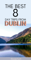 Best Day Trips from Dublin Pinterest Pin