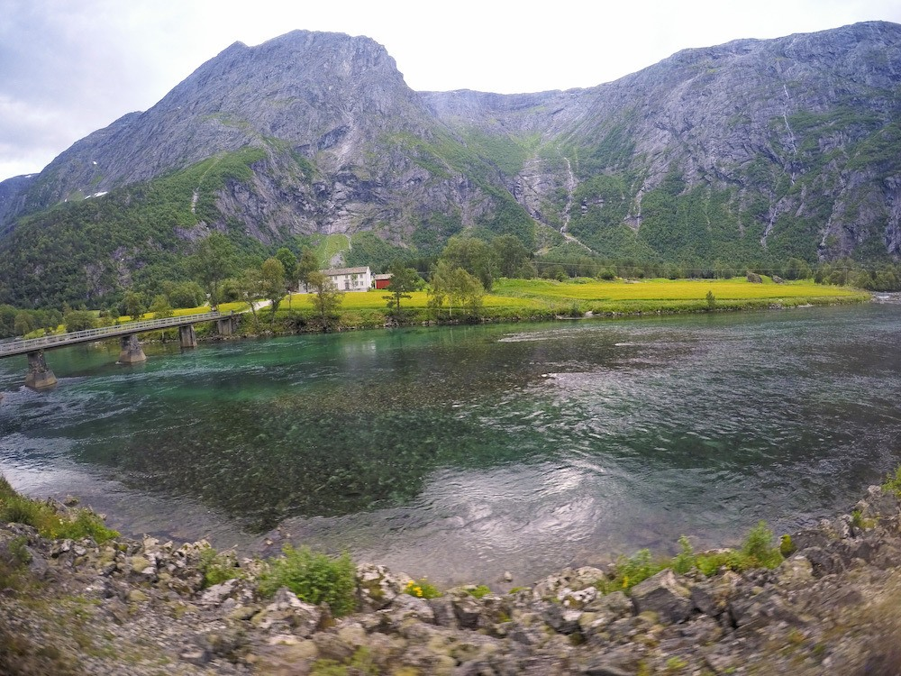 Dombas Scenery Norway By Train