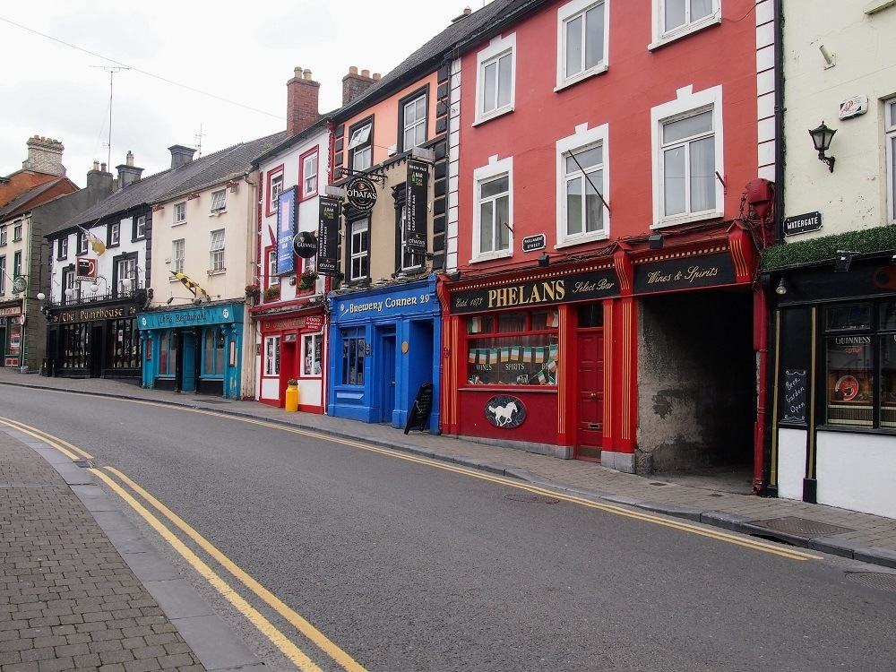 A colourful street in Kilkenny, Ireland