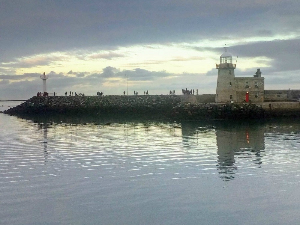 The Lighthouse at Howth Harbour. Howth is one of the best Day Trips from Dublin