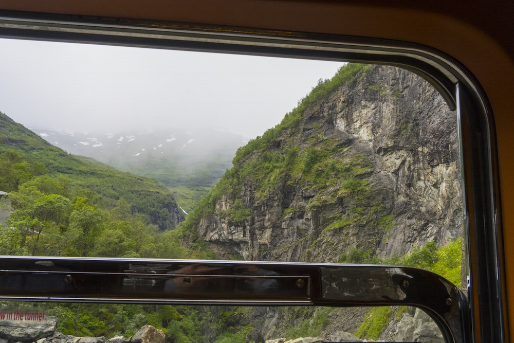 Looking out the window on the Flam line in Norway