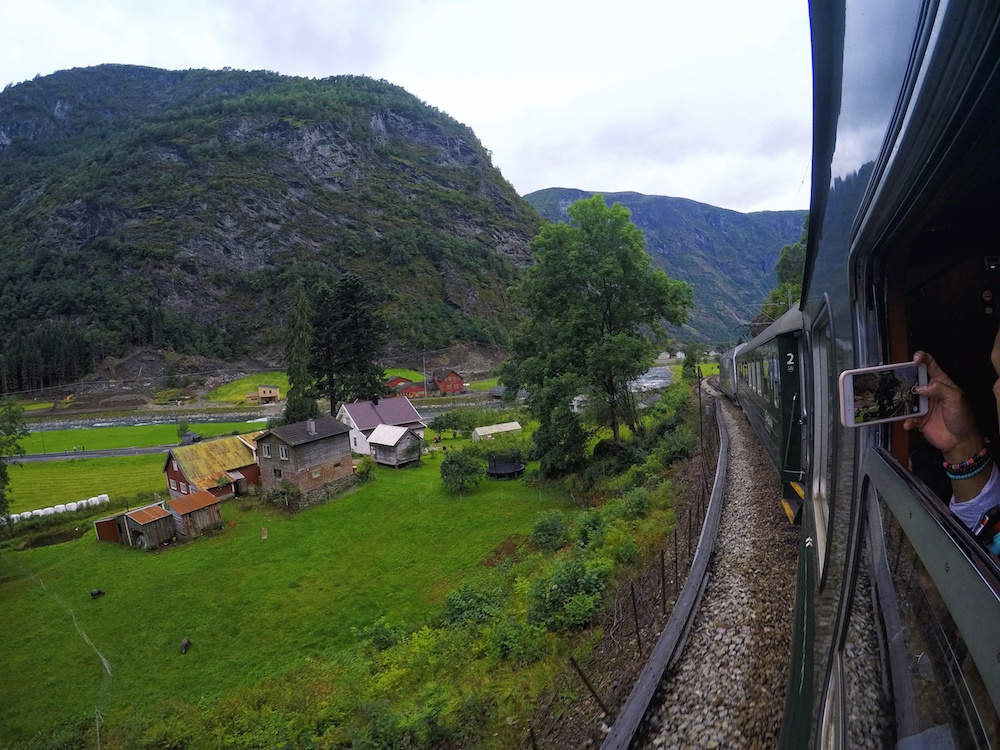 Scenery on the flam line Norway in One week