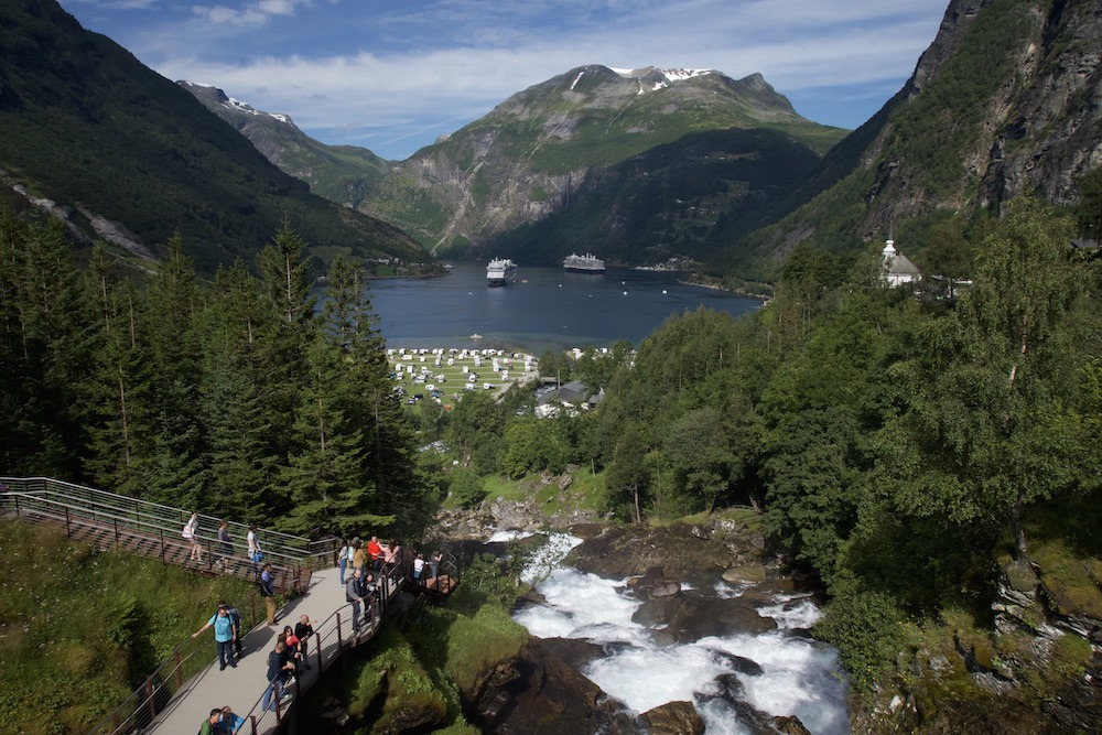 Geiranger Waterfall Hike View