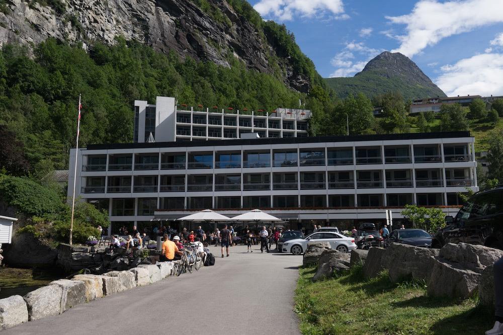 Exterior of Hotel Geiranger Norway