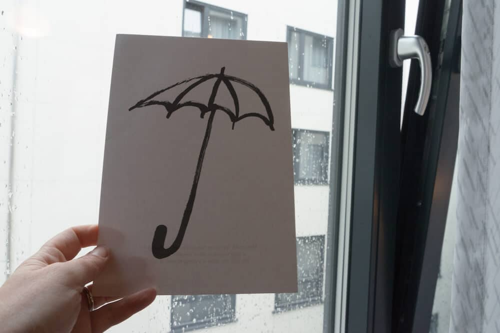 Umbrella Postcard Zander K Hotel Bergen