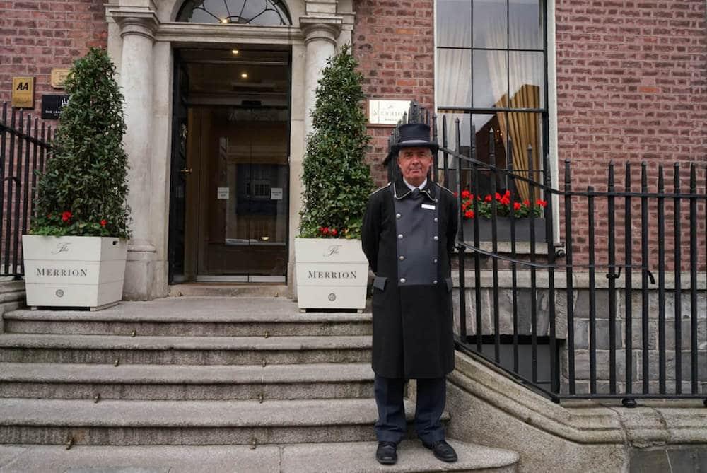 Exterior of the Merrion Hotel Dublin