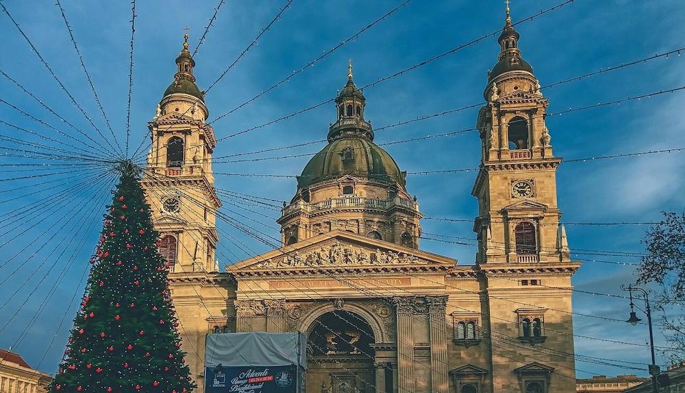 Budapest Basilica at Christmas