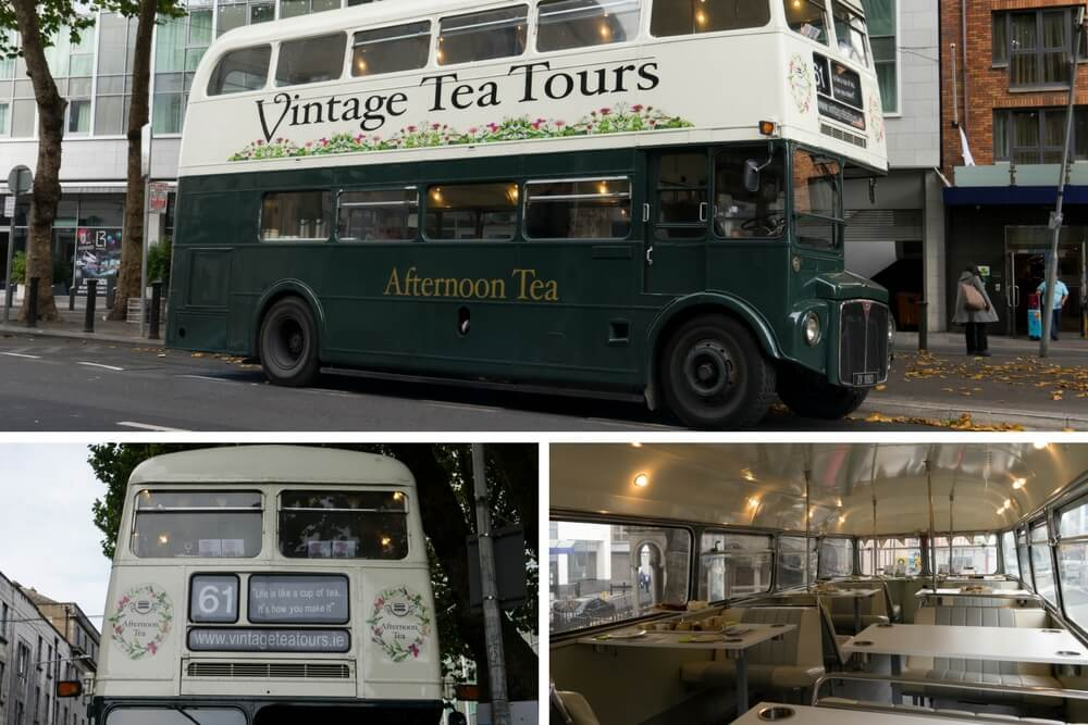 Best Afternoon Tea in Dublin Vintage Tea Tours Bus Tea