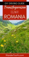 Best Road in Romania Pinterest Pin 1