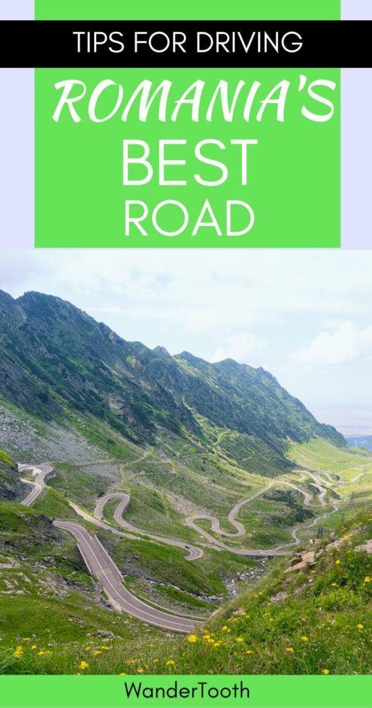 Best Road in Romania Pinterest Pin 2