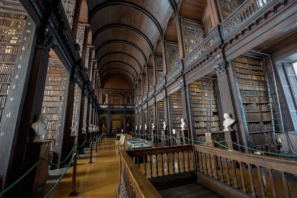 Trinity College Library Interior 3 Days in Dublin