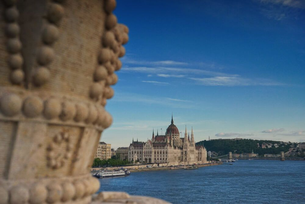 Hungarian Parliament View from Margaret Bridge