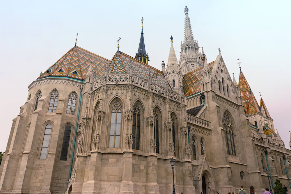 Matthias Church exterior in the Budapest Castle District
