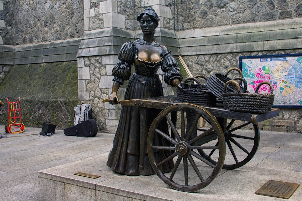 3 days in Dublin Molly Malone Statue