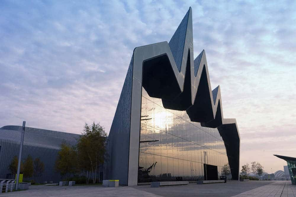 Exterior of the Riverside Museum Glasgow