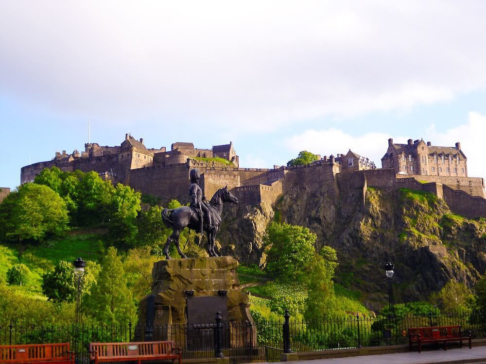 Edinburgh Castle View from Princes Street