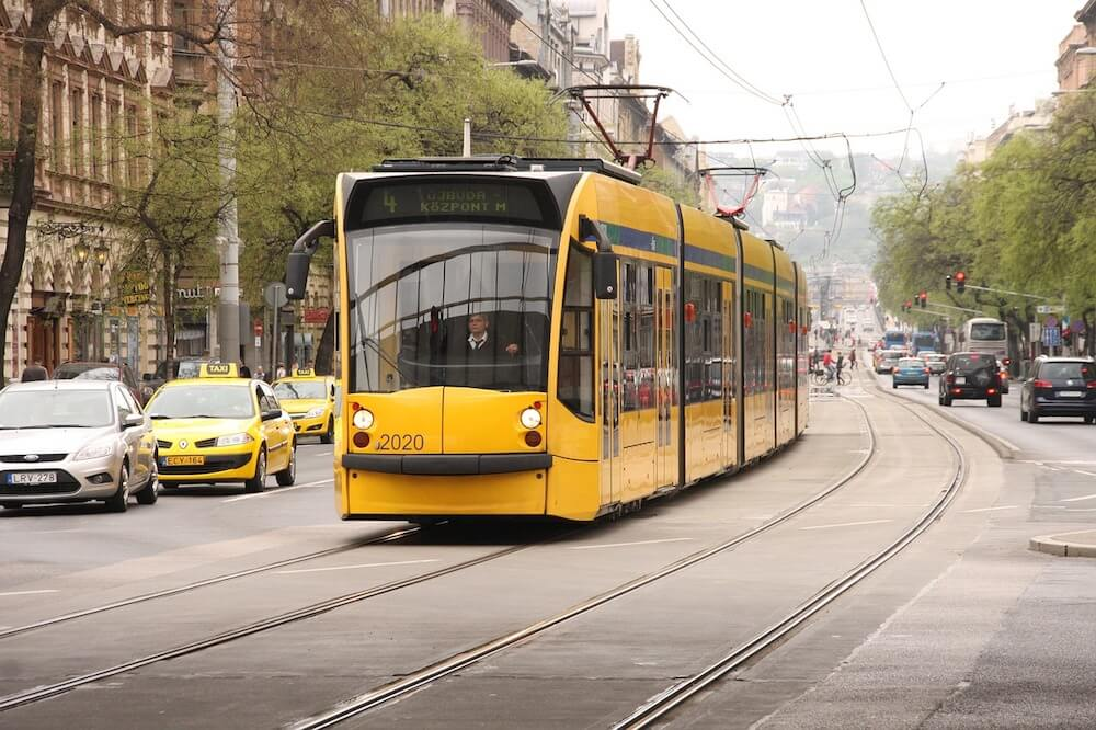 Tram 4 and tram 6 are one of the most popular Budapest transport routes
