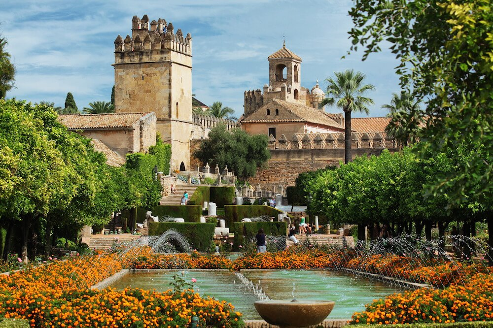 Exterior of the Alcazar in Cordoba. The Alcazar is one of the top 10 attractions in cordoba spain
