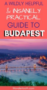 Planning a trip to Budapest? Be sure to read our Wildly Helpful and Insanely Practical Guide to Budapest - filled with all the practical Budapest tips you need for a fantastic Budapest vacation! We wrote this guide after living in Budapest for 1 year, and to share our knowledge of beautiful Budapest! Click to read the post!!! Budapest Hungary I Budapest Travel I Budapest Tips I Budapest Guide