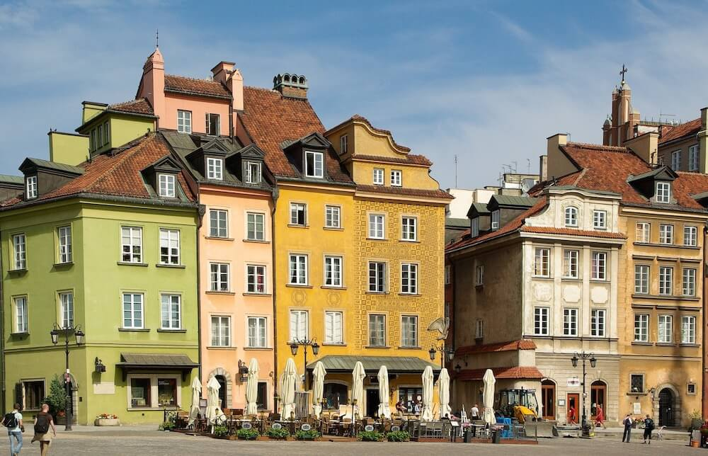 Old town in Warsaw is the best pace to stay for tourists