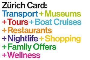 A Zurich Card gives you free use of Zurich public transport along with many other benefits