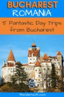 The Very Best Day Trips from Bucharest! If you're planning a trip to Bucharest, Romania, don't forget to get out of the city! See the legendary castles of Transylvania, UNESCO sites, beautiful medieval cities, and even visit Bulgaria in a day trip from Bucharest Romania! Our Bucharest Day Trips Guide includes 5 Awesome Side Trips from Bucharest. Click to Read. #Bucharest #Romania #Europe #Travel