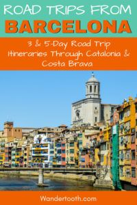 Planning a road trip from Barcelona? Click to read our 3-day road-trip itinerary and 5-day road trip extension itinerary to plan the perfect Spain road trip from Barcelona! Covering Costa Brava and Catalonia, it includes 10 trips around Barcelona to include on your itinerary. #Spain #Barcelona #Catalonia #CostaBrava #Europe #Roadtrip