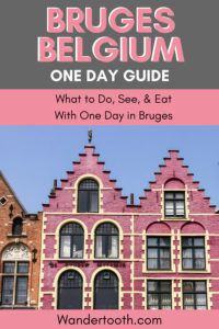 Heading to Bruges, Belgium? This Bruges travel guide will help you plan a perfect trip if you only have 1 day in Bruges! Romantic canals, medieval church spires, cobbled alleyways that take you back in time, and mouthwatering chocolate. Don't miss anything, and spend a perfect day exploring Bruges! Click to read our Bruges travel guide! #Bruges #Brugge #Belgium #Europe #Daytrip