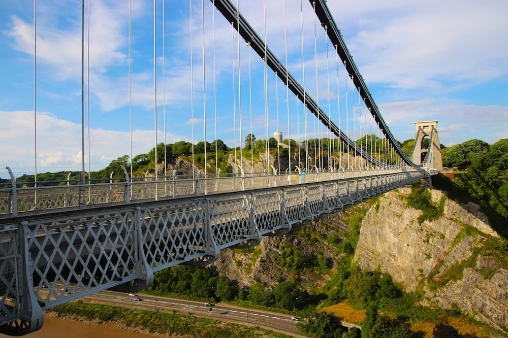 The Clifton Suspension Bridge is one of the top things to see in Bristol England