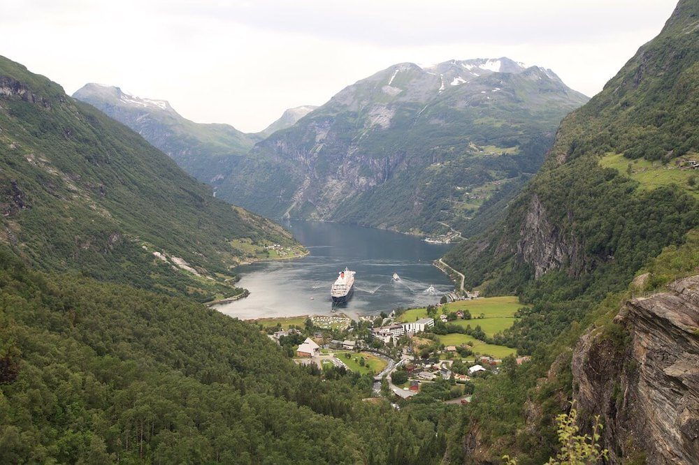 Geirangerfjord is one of the most beautiful places in Norway