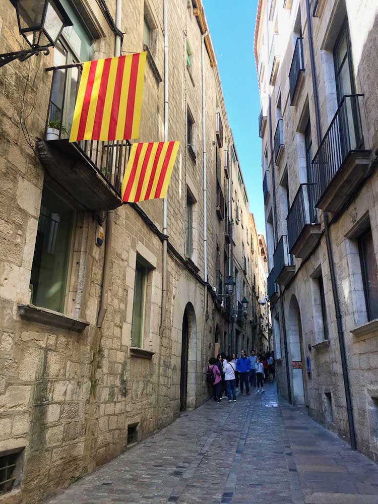 Explore the narrow alleys on a Girona day trip