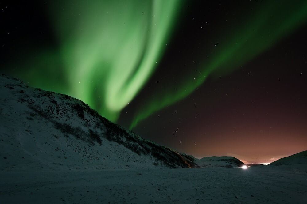 The best place to see the northern lights is northern Norway