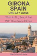 Planning a holiday in Barcelona Spain? Click to read our guide to planning the perfect day trip from Barcelona to Girona, and get the most out of your visit. This small, charming, medieval city boasts some of the best food in the world, and is a completely different experience than Barcelona! #Girona #Catalonia #Spain #Daytrip #Europe #Travel