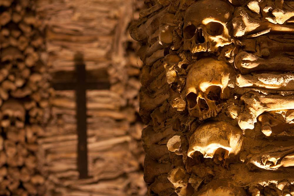 The bone ossos tops the list of what to see in evora