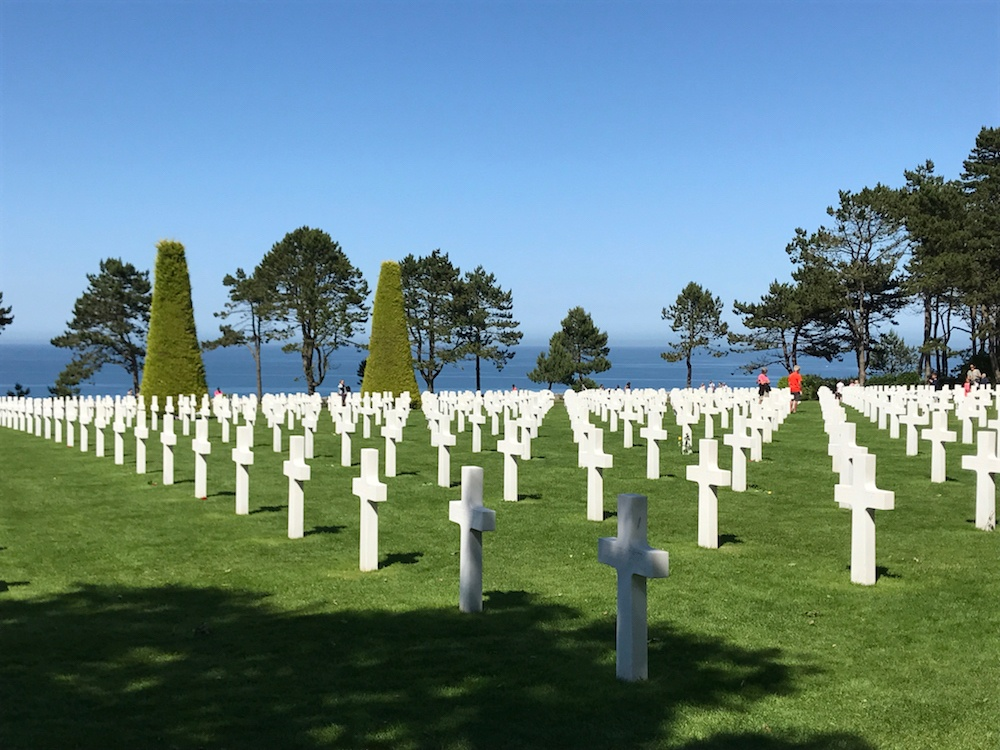 D Day beaches in Normandy American cemetery