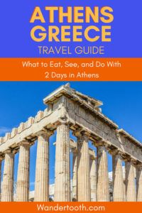 Planning a holiday to Athens Greece? See all the sites, and eat all the food with this 2 Days in Athens Travel Guide. Includes things to do in Athens Greece and what to eat in Athens Greece. #athens #greece #Europe #thingstodo #travel #travelguide