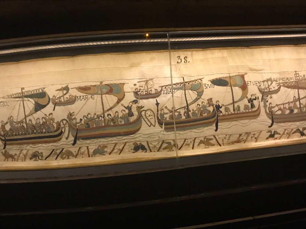 The Bayeux tapestry is one of the many attractions in Normandy