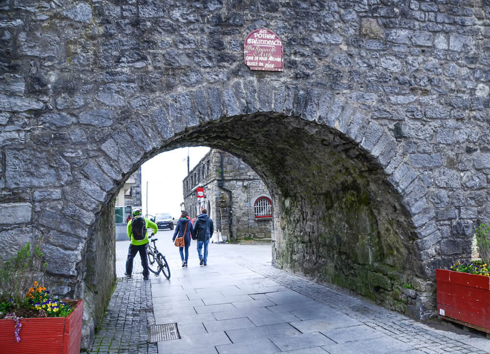 The Spanish Arch is one of the many activities in Galway