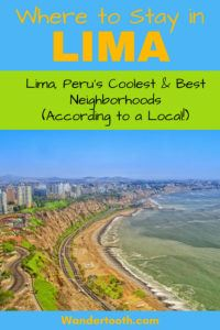 Where to Stay in Lima Peru (According to a Local). A Lima Travel Guide That Explains Lima's Best Areas to Stay. If You're Planning a Trip to Lima, Use This Guide to Plan The Best Place to Stay in Lima. Written by a Local Travel Writer. Includes Lima Hotel Recommendations. Click to Read the Lima Travel Guide! Best Areas to Stay in Lima I Lima's Coolest Neighborhoods I Lima Hotels I #Lima #Peru #Hotels #SouthAmerica #Travel