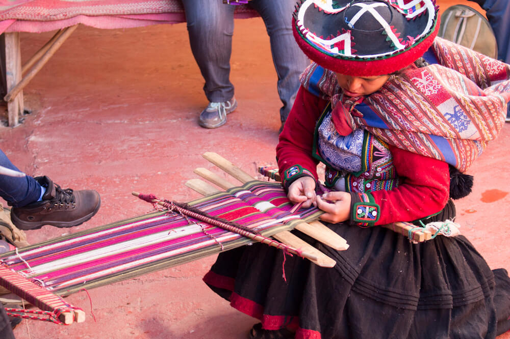 Buy colorful textiles when you visit cusco