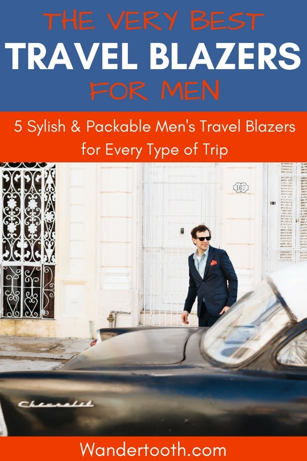 The Best Travel Blazers for Men I Planning a Vacation and Looking for the Perfect Packable Blazer? We've done the research for you, and compare 5 top-rated men's travel blazers in this post. Click to Read! #Menswear #Suitjackets #Casual #Sportcoats #Vacations #Travel #Trips #Packing
