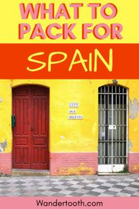 What to Wear in Spain I A Spain Packing List for 4 Seasons I If You're Wondering What to Pack for Spain, Read Our 4-Season Scotland Packing Tips Post. Includes Tips for Spain in Summer, Spain in Fall, Spain in Winter, and Spain in Spring. Get Started With Your Spain Trip with This Packing List for Spain. Click to Read. #Spain #Travel #Packing #Vacation #Packinglist