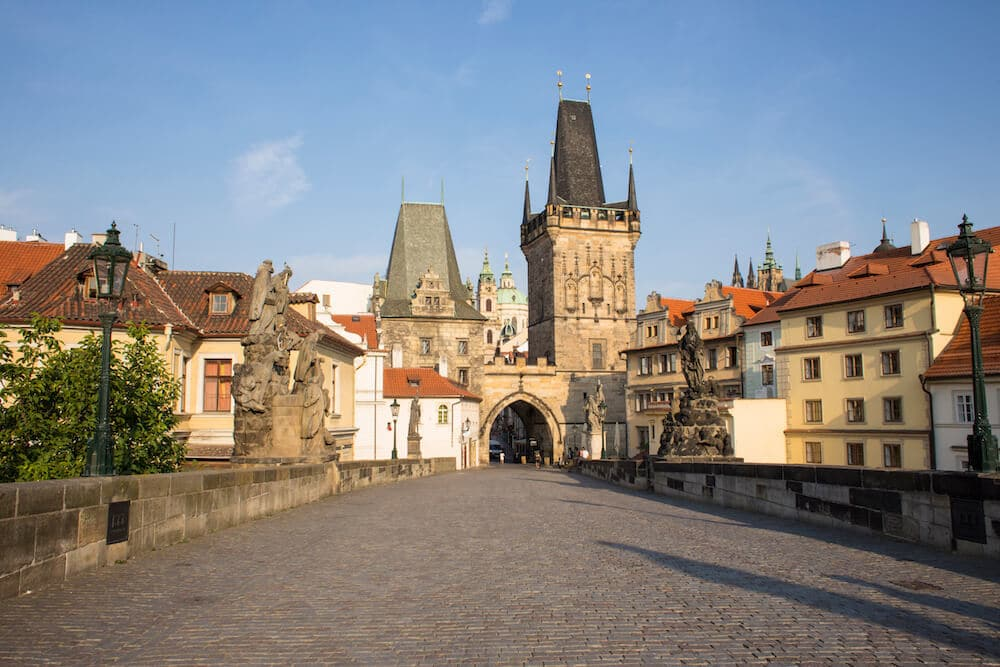 Charles Bridge in Old Town Prague