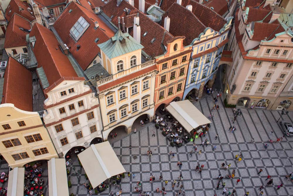 The view from Old Town Hall tower prague