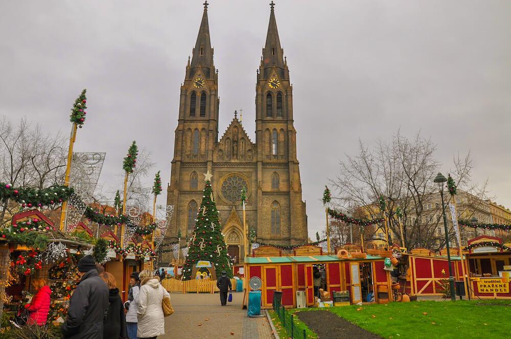 Vinohrady district Prague Namesti Miru Prague Christmas markets