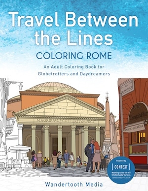 best Adult coloring book for travel Rome