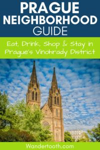 Vinohrady Prague Neighborhood Guide: Get off the beaten path in Prague with this insider's guide to the Prague Vinohrady district. Includes where to eat, drink, shop, and sleep in one of Prague's coolest neighborhoods. #Prague #Europe #Czechrepublic #Travel #Travelguide #Citybreak