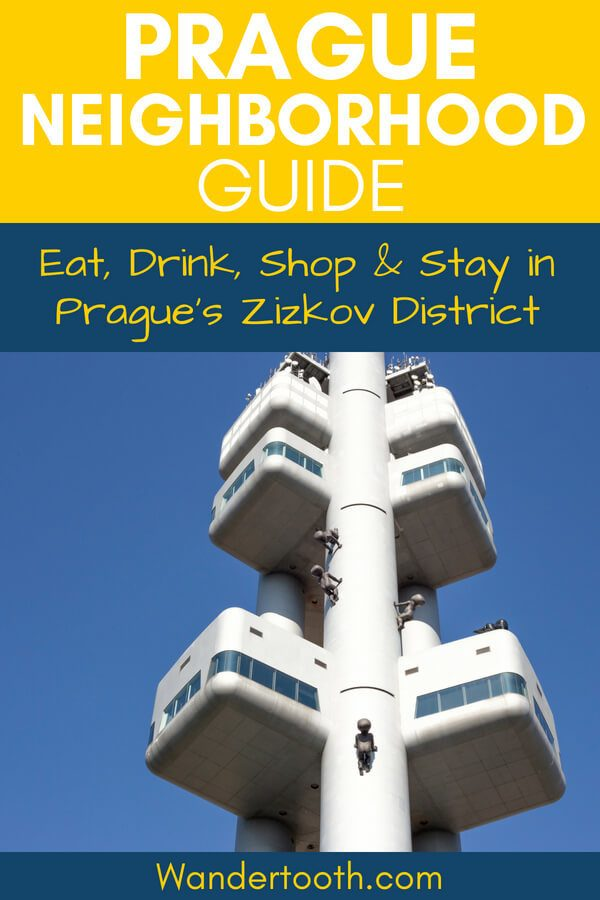 Guide to Prague Zizkov District Pinterest Pin